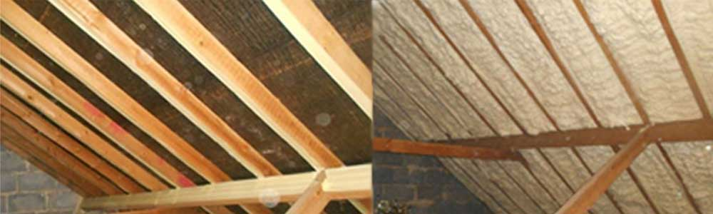 Reed's Sprayfoam Insulation Before & After Photos