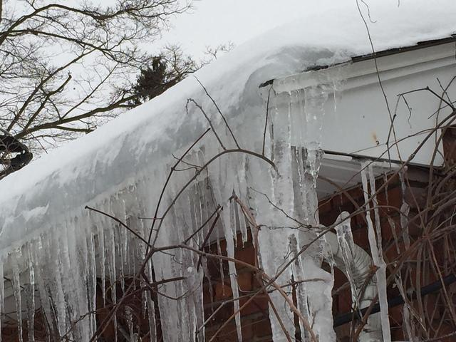 When snow on the roof is melted by heat escaping from the attic, and the melted snow re-freezes, this causes ice damming on the roof of your home.