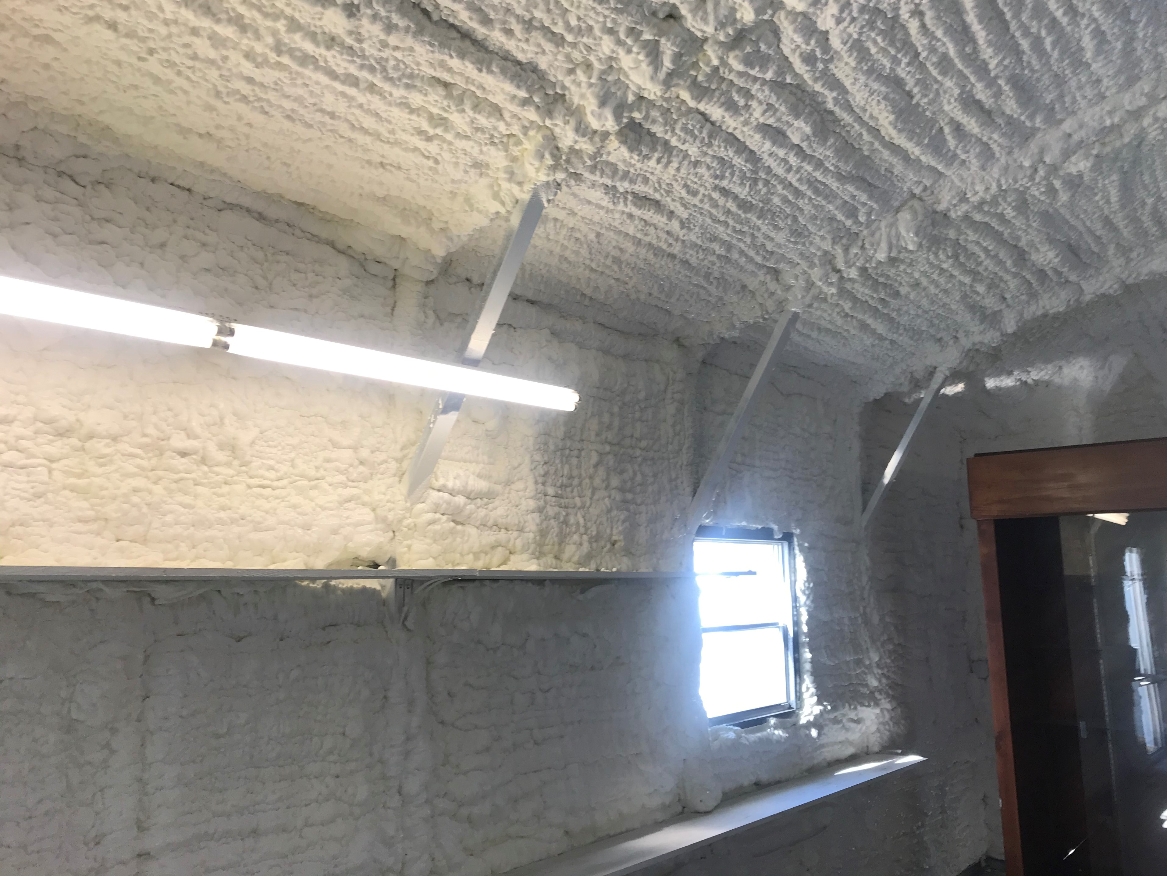 Insulation along side wall